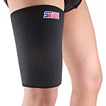 Sports Badminton Elastic Stretchy Thigh Brace Support Wrap Band - Free Size