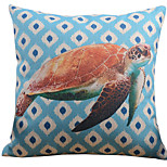 Cotton/Linen Pillow Cover , Coastal Beach Style