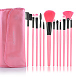 Make-up For You® 12pcs Makeup Brushes set  Limits bacteria/Professional Pink Lash/Powder/Brow/Foundation Brush Makeup Kit Cosmetic Brushes Tool set