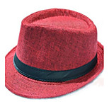 Women Straw Fedora Hat , Casual Summer
