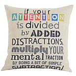 Cotton/Linen Pillow Cover , Quotes & Sayings Country