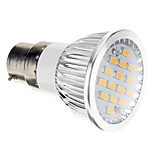 B22 5.5 W 15 SMD 5730 380 LM Warm White Spot Lights AC 100-240 V