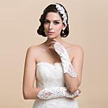 Elbow Length Fingerless/Fingertips Glove Satin/Lace Bridal Gloves/Party/ Evening Gloves