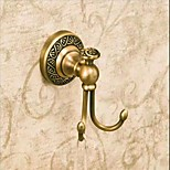 Antique Style Brass Wall Mounted  Robe Hooks