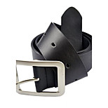 Men's Fashion Premium Textured Metal Buckle Faux Leather Belt 3798