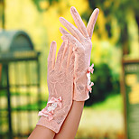 Wrist Length Fingertips Glove Lace General Purposes & Work Gloves/Bridal Gloves/Party/ Evening Gloves