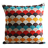 Cotton/Linen Pillow Cover , Geometric Country