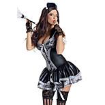 Seductive Girl Black Polyester French Maid Uniformfor Carnival