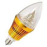 LOHAS E12 4 W 3 High Power LED 210-240 LM Warm White/Cool White Candle Bulbs AC 100-240 V
