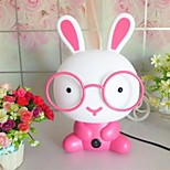 MT001 Night Light Cartoon coniglio rosa resina di plastica