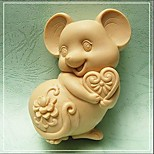 Mouse Shaped Bake Mold,W9.5cm x L7.1cm x H3.7cm