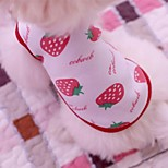 Lovely Strawberry and Bear Pattern Vest Shirt  for Pets Dogs (Assorted Colors Sizes)