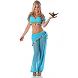 Cosplay Costumes / Party Costume Charming Fairytale Princess Jasmine Blue Polyester Women's Halloween Costume