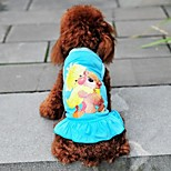 Bear Pattern Princess Dress for Dogs (Assorted Colors XS-L)