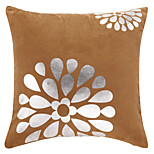 Polyester Pillow Cover , Floral Casual
