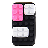 Silicone DIY Protective Case for iPhone4/4S (Black and Purple)