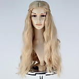 Movie Maleficent Princess Aurora Long Wavy Anime Cosplay Wig