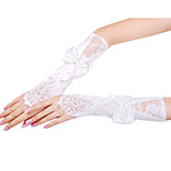 Opera Length Fingerless Glove Satin/Lace Bridal Gloves/Party/ Evening Gloves