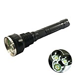 Hunterseyes ™  3XT6-   5-Mode Cree XM-L T6 LED Flashlight (4000LM, 2x18650) Black