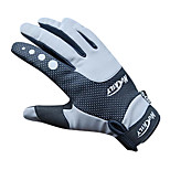 NUCKILY Waterproof Windproof Slide-Proof Thermal Gray Cycling Gloves