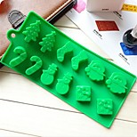 Snowman Christmas Tree Wand Socks Cake Chocolate Molds,Silicone 22.6×10×1.5 CM(8.9×3.9×0.6 INCH)