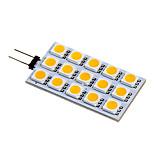 G4 3.5 W 15 SMD 5050 140-160 LM Warm White/Cool White Bi-pin Lights DC 12 V