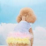 Pet Clothing Summer Flower Bud Silk Dress for Pets Dog