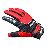 NUCKILY Waterproof Windproof Slide-Proof Thermal Red Cycling Gloves