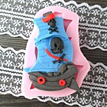 Pirate Boat Shaped BakeFondant cake mold,L8cm*W5.8cm*H1.5cm