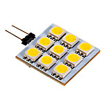 G4 2.5 W 9 SMD 5050 90-100 LM Warm White/Cool White Bi-pin Lights DC 12 V