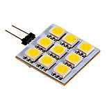 Luces de Doble Pin G4 2.5 W 9 SMD 5050 90-100 LM Blanco Cálido/Blanco Fresco DC 12 V