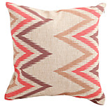 Cotton/Linen Pillow Cover / Pillow With Insert , Geometric Modern/Contemporary