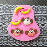 scimmia banane cuocere muffa della torta del fondente, l7.4cm * w6.2m * h1.2cm