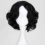 Princess Snow Fairytale Princess Synthetic Short Black Curly Halloween Wig Cosplay Wig