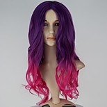 New Movie Guardians of the Galaxy Gamora Long Wavy Gradient Purple & Pink Cosplay Wig