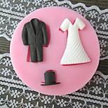 Clothes Bake Fondant cake mold,L7cm*W7cm*H1cm