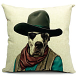 Cool Dog Cotton/Linen Decorative Pillow Cover