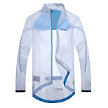 SANTIC Men's Cycling Jacket/Rain Jacket Anti UV Waterproof Ultralight Outdoor Wind Coat(White)