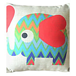 Red Elephant Decorative Pillow with Insert