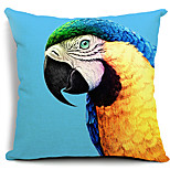 Vivid Parrot Painting Cotton/Linen Decorative Pillow Cover
