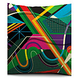 Colorful Geometric Sketch Cotton/Linen Decorative Pillow Cover