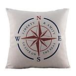 Cotton/Linen Pillow Cover , Nautical Retro