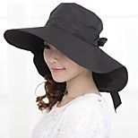 Women Polyester Floppy Hat , Casual Summer