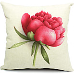 Summer Flower Cotton/Linen Decorative Pillow Cover