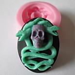 Skull Snake Baking Fondant Cake Chocolate Candy Mold,L4.8cm*W3.9cm*H1.5cm