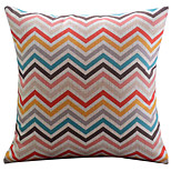 Cotton/Linen Pillow Cover , Striped Modern/Contemporary