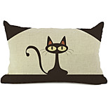 Cartoon Cat Cotton/Linen Decorative Pillow Cover