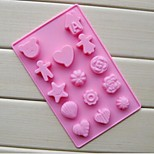 14 Hole Boy And Girl Shape Cake Ice Jelly Chocolate Molds,Silicone 20×13×1.5 CM(7.9×5.1×0.6 INCH)