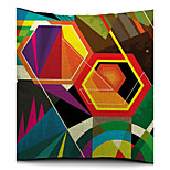 Colorful Geometric Polygon Cotton/Linen Decorative Pillow Cover