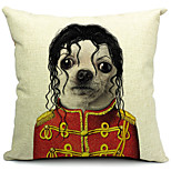 Cartoon Lovely Dog Cotton/Linen Decorative Pillow Cover